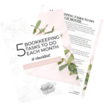 5 Bookkeeping tasks to do each month